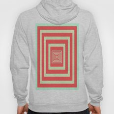 Coral and Light Blue Hoody