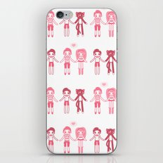 Girl + Boy + Cat iPhone & iPod Skin