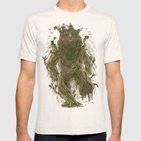 Treebear Mens Fitted Tee Natural SMALL