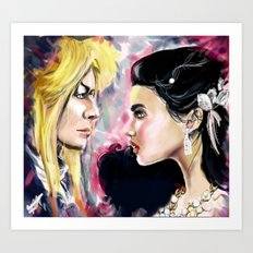 Jareth and Sarah Art Print