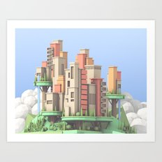Floating City 02 Art Print