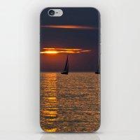 Summer sunset on the Baltic Sea iPhone & iPod Skin