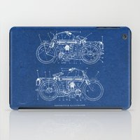 Motorcycle Blueprint iPad Case