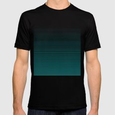 Lines Mens Fitted Tee Black SMALL
