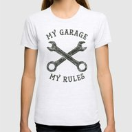 My Garage Womens Fitted Tee Ash Grey SMALL