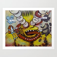 Bart Taking That Trip Art Print