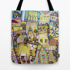 THE CITY OF 100 CATS Tote Bag