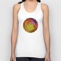 Burgundy and Olive Abstract Unisex Tank Top