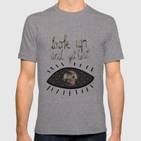 Look Up And Get Lost  Mens Fitted Tee Tri-Grey SMALL