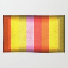 Warm Color Stripes Rug