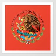 Mexican Seal Authentic V… Art Print