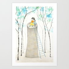 A different Rapunzel Art Print