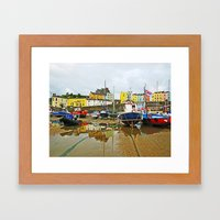 Tenby Harbour Reflection.Wales. Framed Art Print
