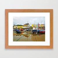 Tenby Harbour Reflection… Framed Art Print