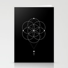 Seed Of Life Geometry Bl… Stationery Cards