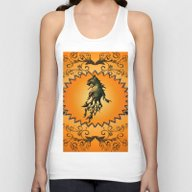 Lion With Flame Unisex Tank Top