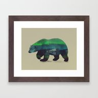 Polar Bear In Northern L… Framed Art Print