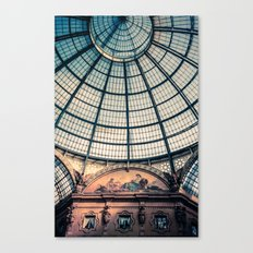 Faded Memories: Galleria Vittorio Emmanuel II, Milan Canvas Print