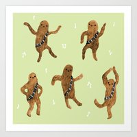 Wookie Dance Party Art Print