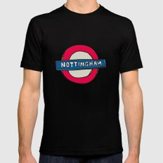 tube sign SMALL Mens Fitted Tee Black