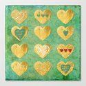 Heart of Gold (Society6 exclusive for Valentine's Day) Canvas Print