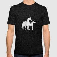 FANTASY - Unicorns Mens Fitted Tee Tri-Black SMALL