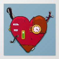Robot Heart Canvas Print