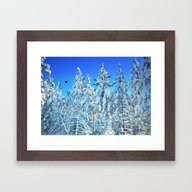 Snowy Sunrise Framed Art Print