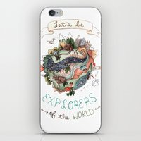 Let's Be Explorers  iPhone & iPod Skin