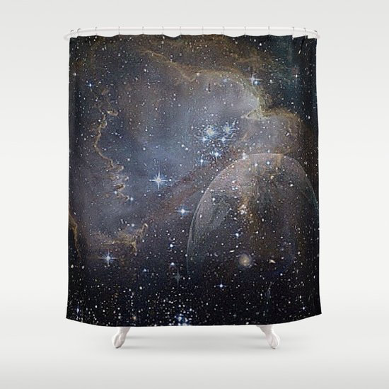 Fantasy planet shower curtain by mehrfarbeimleben society6 for Fantasy shower curtains
