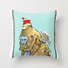 Winged Gorilla Throw Pillow
