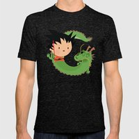 G is for goku Mens Fitted Tee Tri-Black SMALL