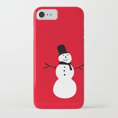 Christmas Snowman-Red iPhone 7 Slim Case