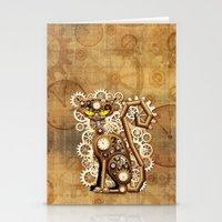 Steampunk Cat Vintage Style Stationery Cards