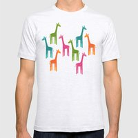 Giraffes Mens Fitted Tee Ash Grey SMALL
