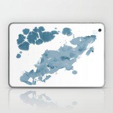 Paint 11 abstract indigo blue modern minimal art print affordable stretched canvas home decor art  Laptop & iPad Skin