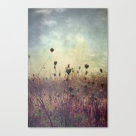 Her Mind Wandered In Bea… Canvas Print