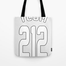 TCOM 212 AREA CODE JERSEY Tote Bag