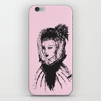 Veiled Lady on Pink iPhone & iPod Skin