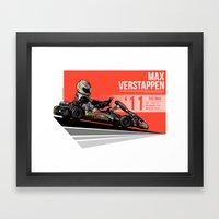 Max Verstappen - 2011 Po… Framed Art Print