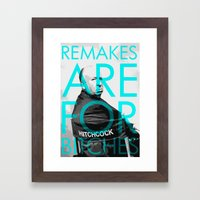 Movie Remakes Framed Art Print