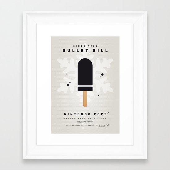 My NINTENDO ICE POP - Bullet Bill Framed Art Print