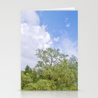 Green skycrapers Stationery Cards