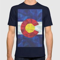 Colorado Mens Fitted Tee Navy SMALL