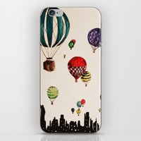 Balloon Ride Over NYC iPhone & iPod Skin