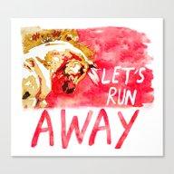 Let's Run Away Horse Canvas Print