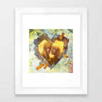 Healing Heart Framed Art Print