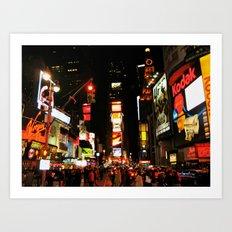 Time Square Doesn't Sleep Art Print