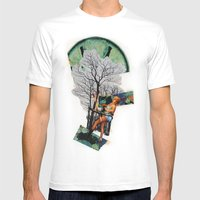 Rape Of Aurora | Collage Mens Fitted Tee White SMALL
