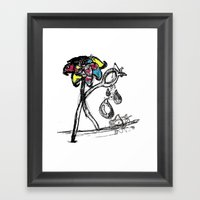 The Sad Fisherman And Th… Framed Art Print